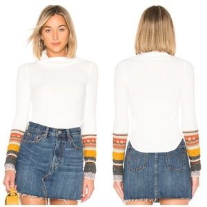 NWT Free People Mixed Up Cuff Sweater